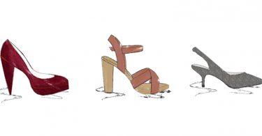 Absatzformen Modeinfos Schuharten hohe Schuhe high heels pumps  375x195 - Das große Hutformenlexikon - Teil 1