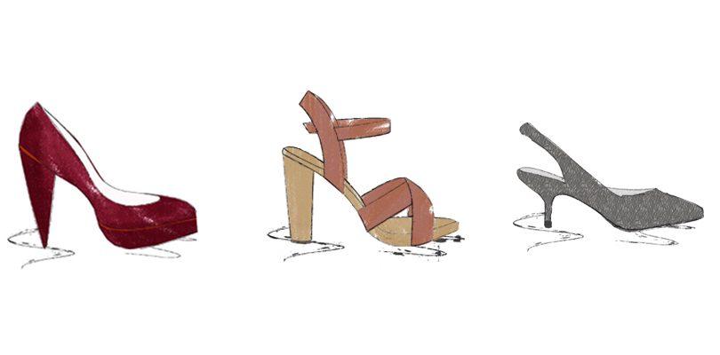 Absatzformen Modeinfos Schuharten hohe Schuhe high heels pumps  810x400 - High Heels, Pumps und Co. - Absatzformen