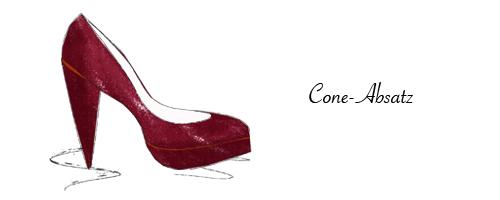 Cone-Absatz