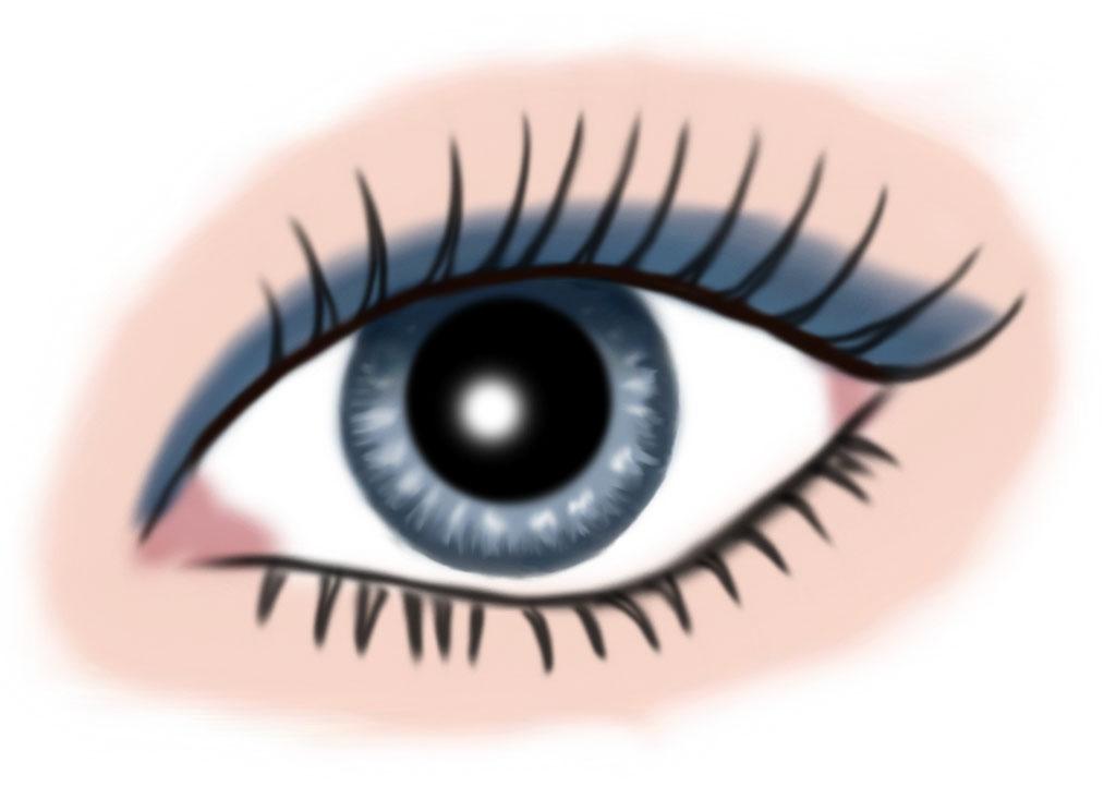 auge blau - makeup blau