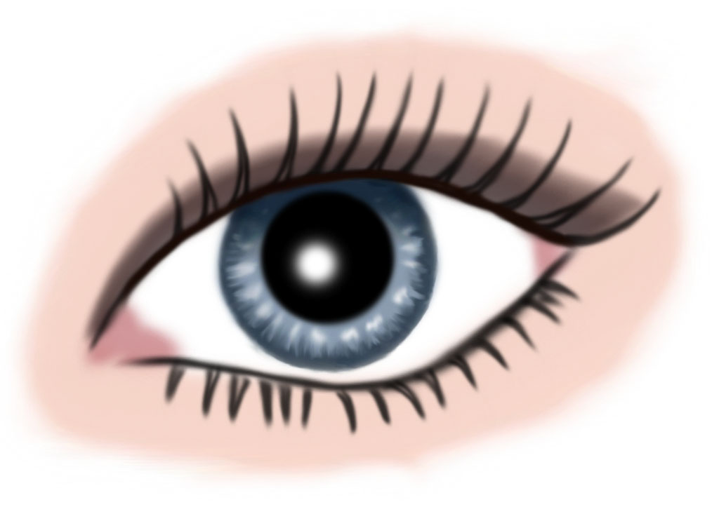 auge blau - makeup braun