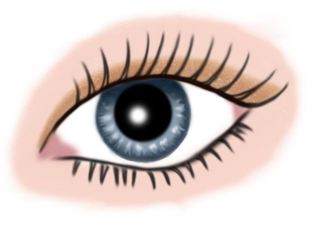 auge blau - makeup goldorange