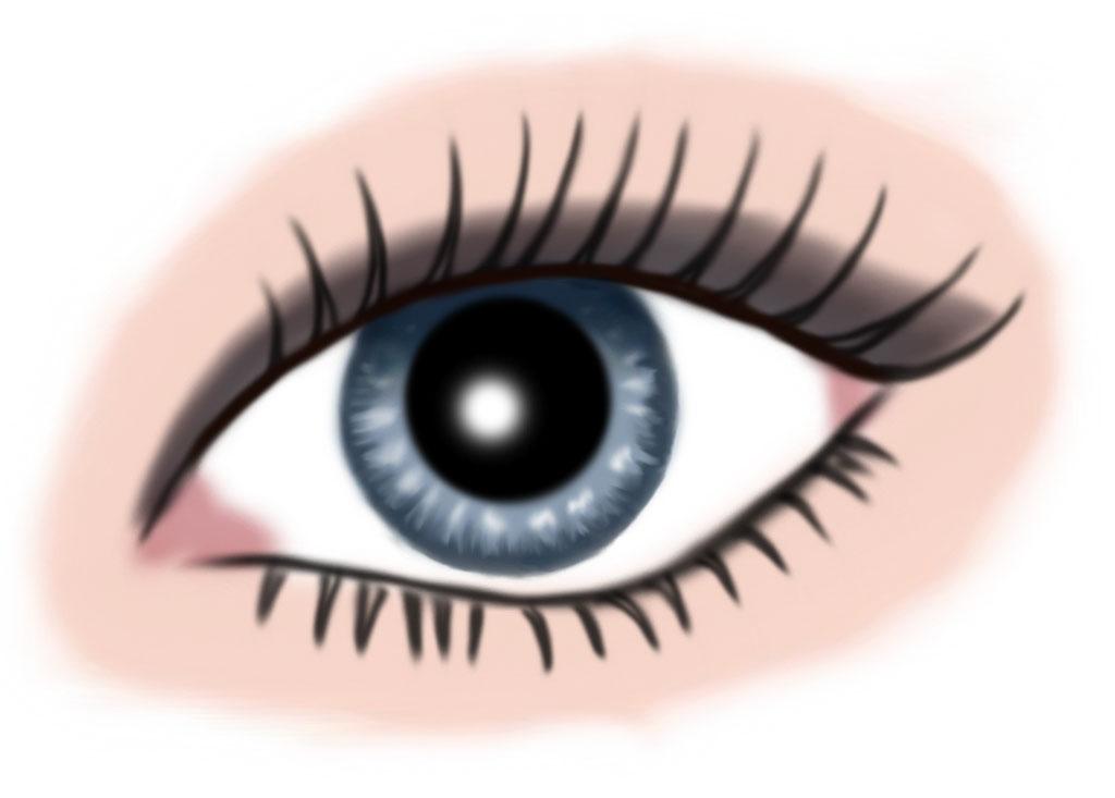 auge blau - makeup grau
