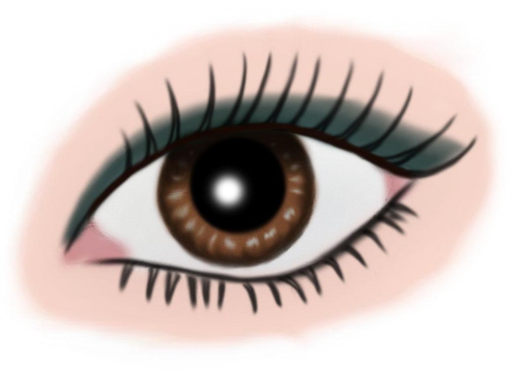 auge braun - makeup petrol