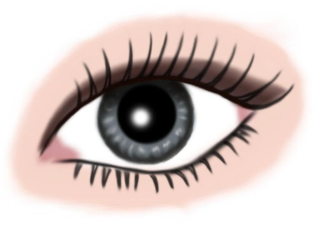auge grau - makeup dunkelbraun
