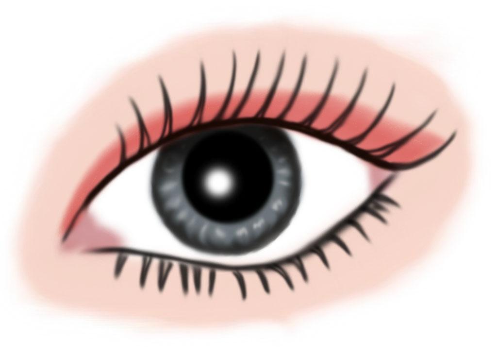 auge grau - makeup lachs