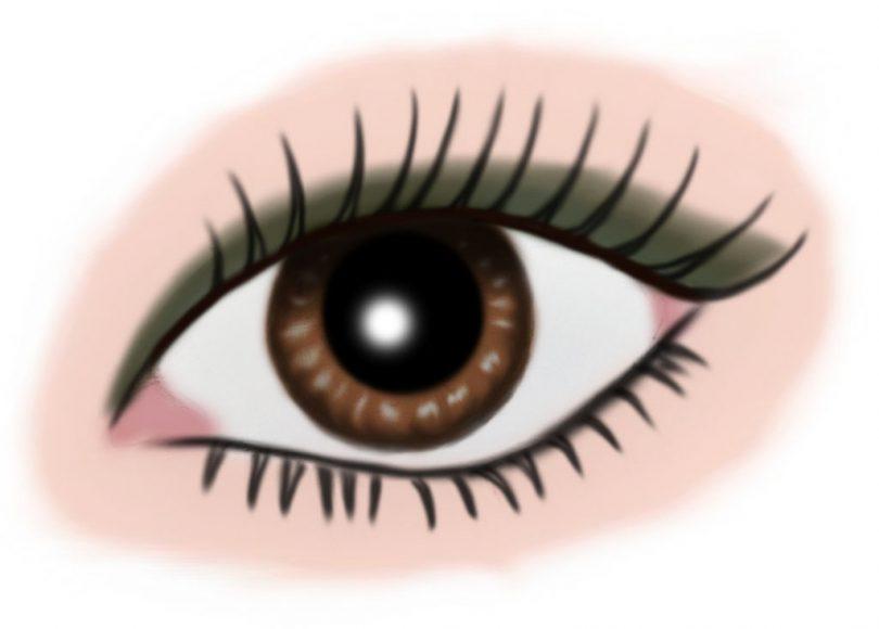 auge braun - makeup graugruen