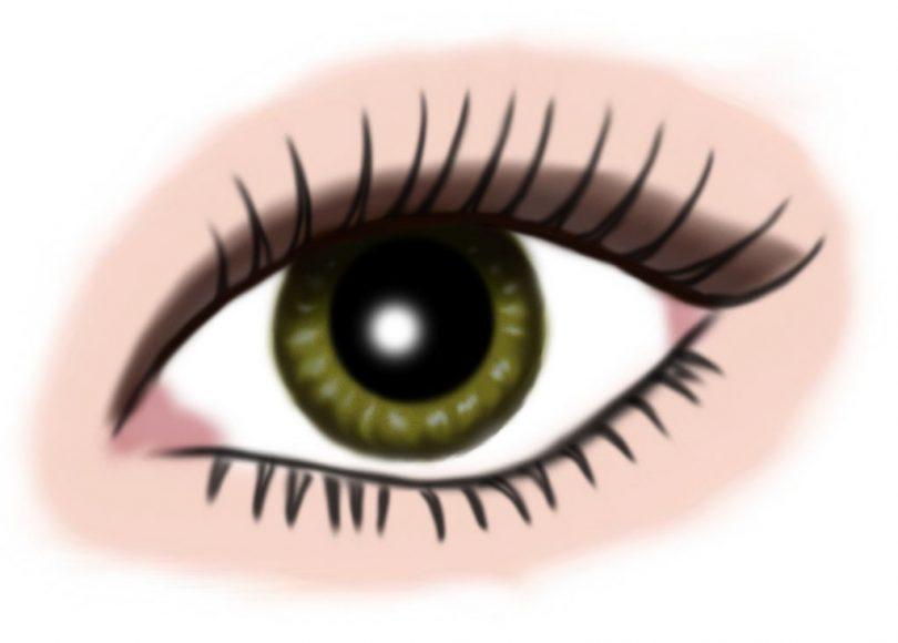 auge gruen - makeup dunkelbraun