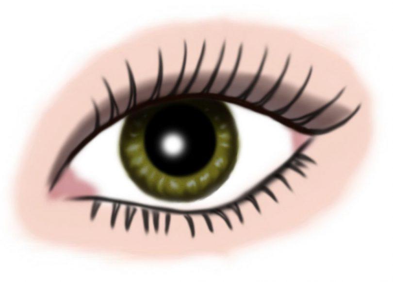 auge gruen - makeup graubraun
