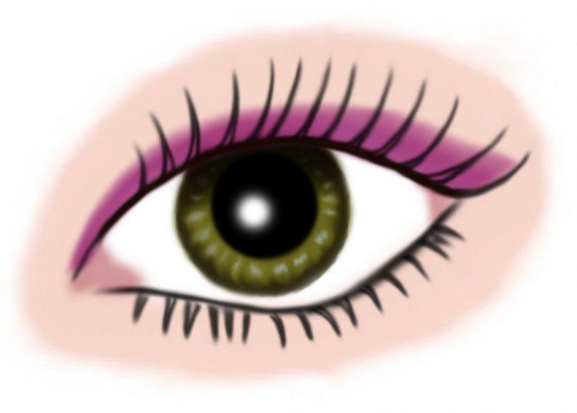 auge gruen - makeup pink