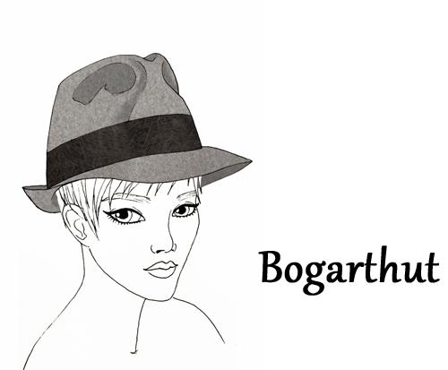 Illustration mit Bogart Hut
