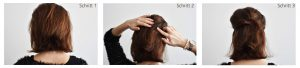 Hairstyle 1 Instructions3 300x68 - 4 refined, fast hairstyles for medium-length hair