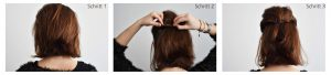 Hairstyle3 Tutorial1 300x68 - 4 refined, fast hairstyles for medium-length hair