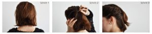 Hairstyle4 Instruction 300x68 - 4 refined, fast hairstyles for medium-length hair