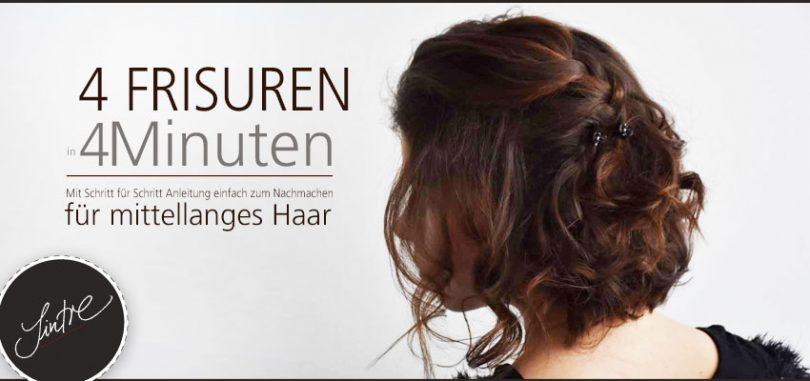 4 Raffinierte Schnelle Frisuren Für Mittellanges Haar Sintre