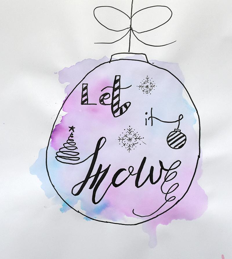GalerieWeihnachtskugel Handlettering - Handlettering lernen – Schritt für Schritt