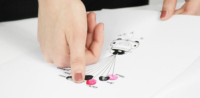 Fingerabdrücke im Gästebuch