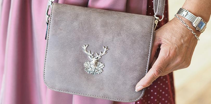 Trachtentasche mit Hirschkopf