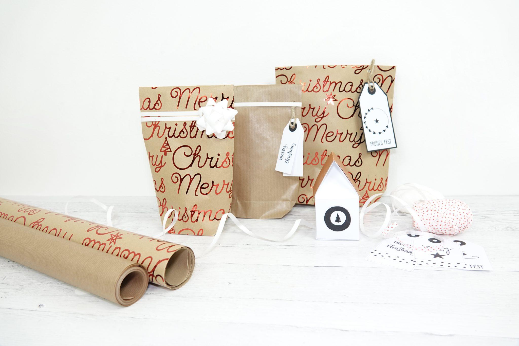 Verschiedene Möglichkeiten, Geschenke kreativ zu verpacken: Geschenktüten und Häuschenverpackung