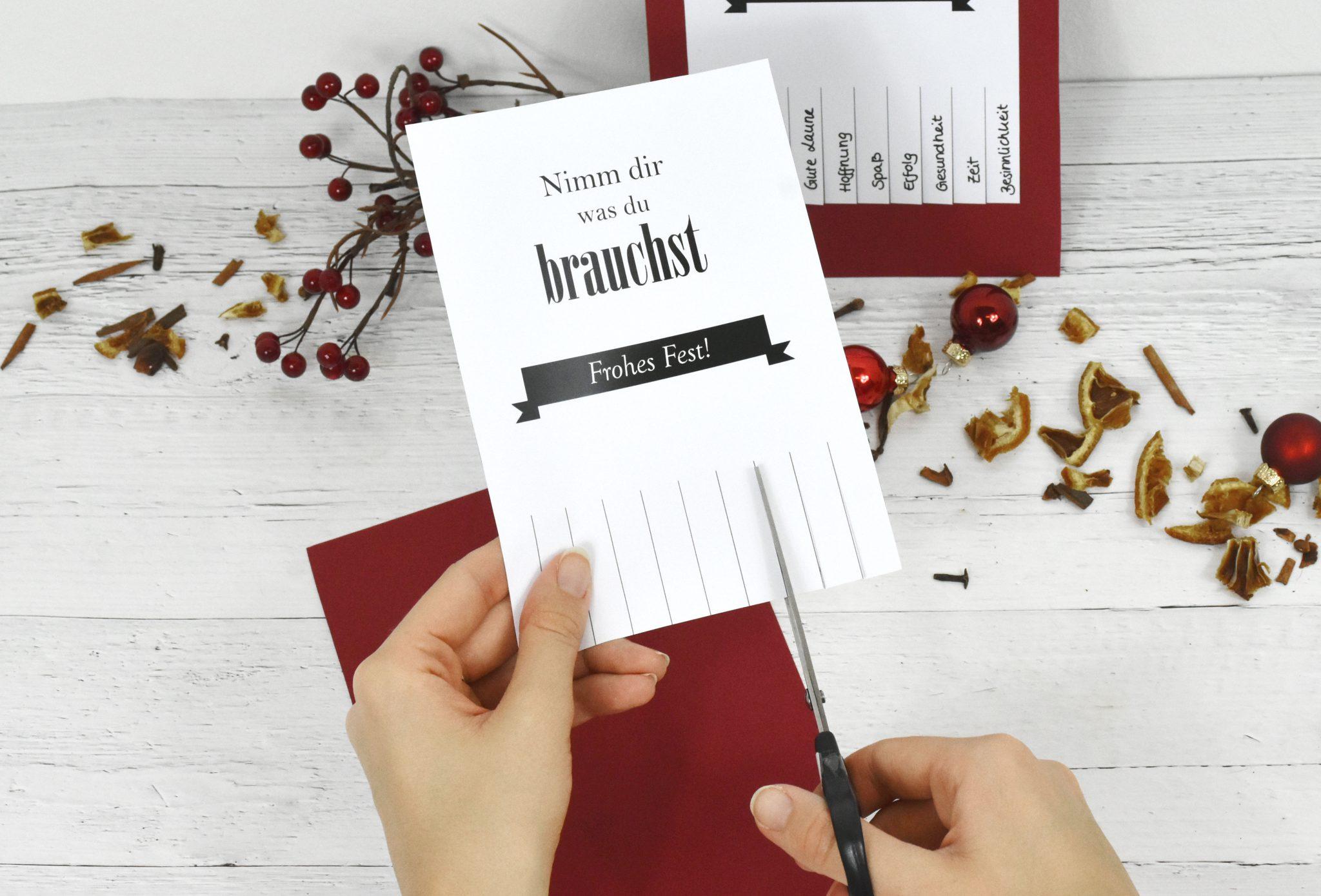 Weihnachtskarten ausschneiden - Weihnachtskarten basteln: Perfekt für deine Weihnachtsgrüße