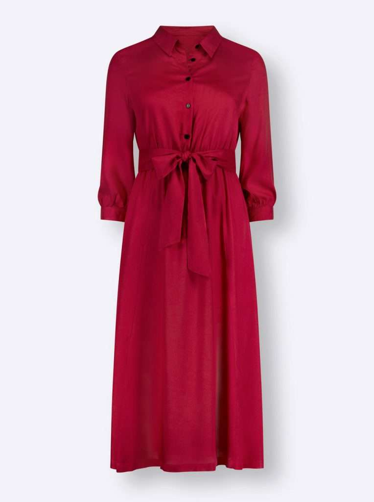 Rotes Hemdblusenkleid in Kurzgröße