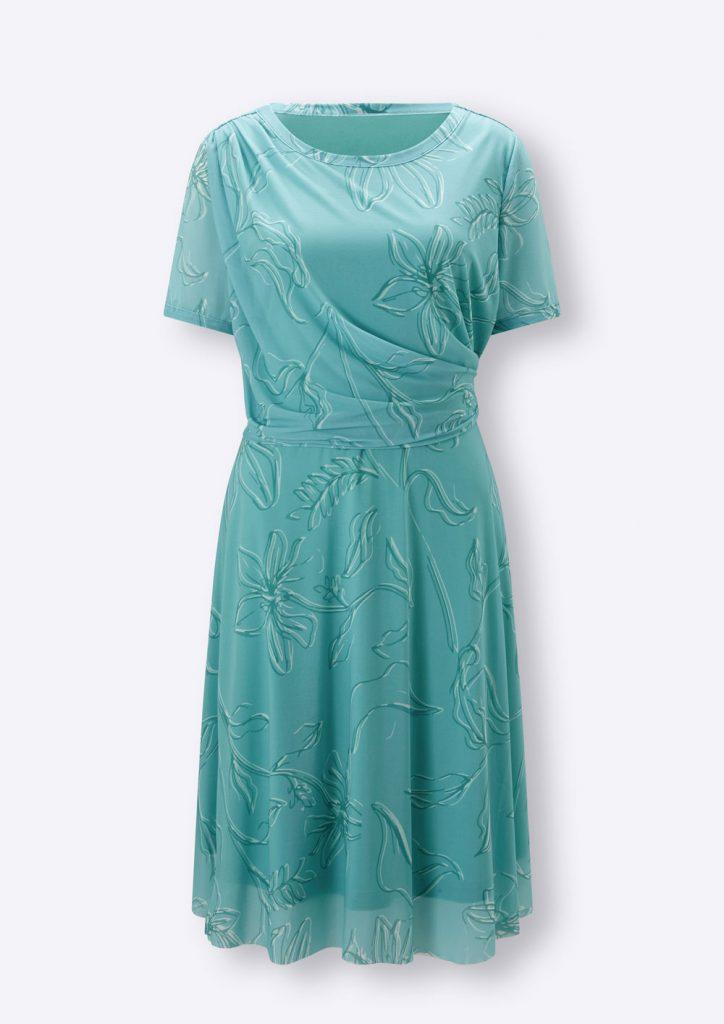 Grünes Wickelkleid