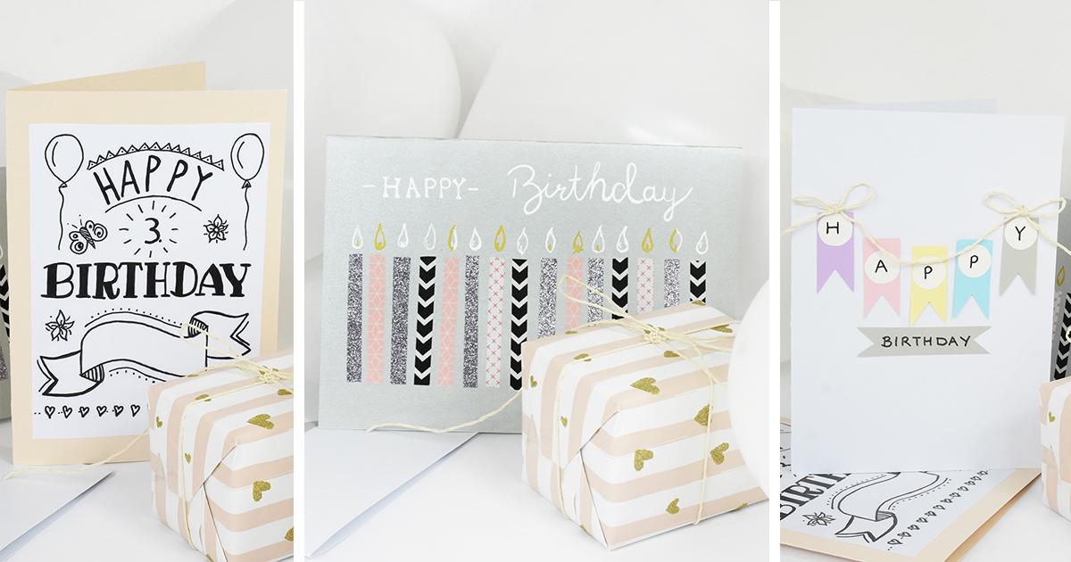 Geburtstagskarten Selber Machen 3 Schnelle Ideen Sintre