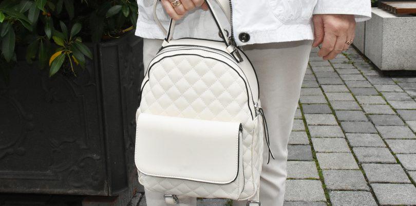 Damenrucksack in weiß