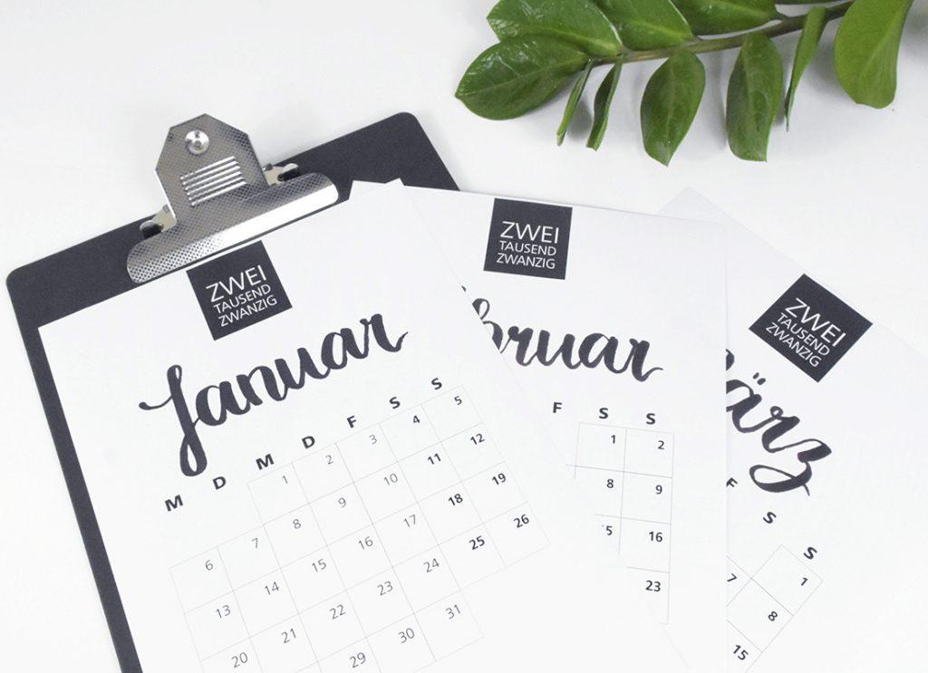 Klemmbrett Kalender 2020