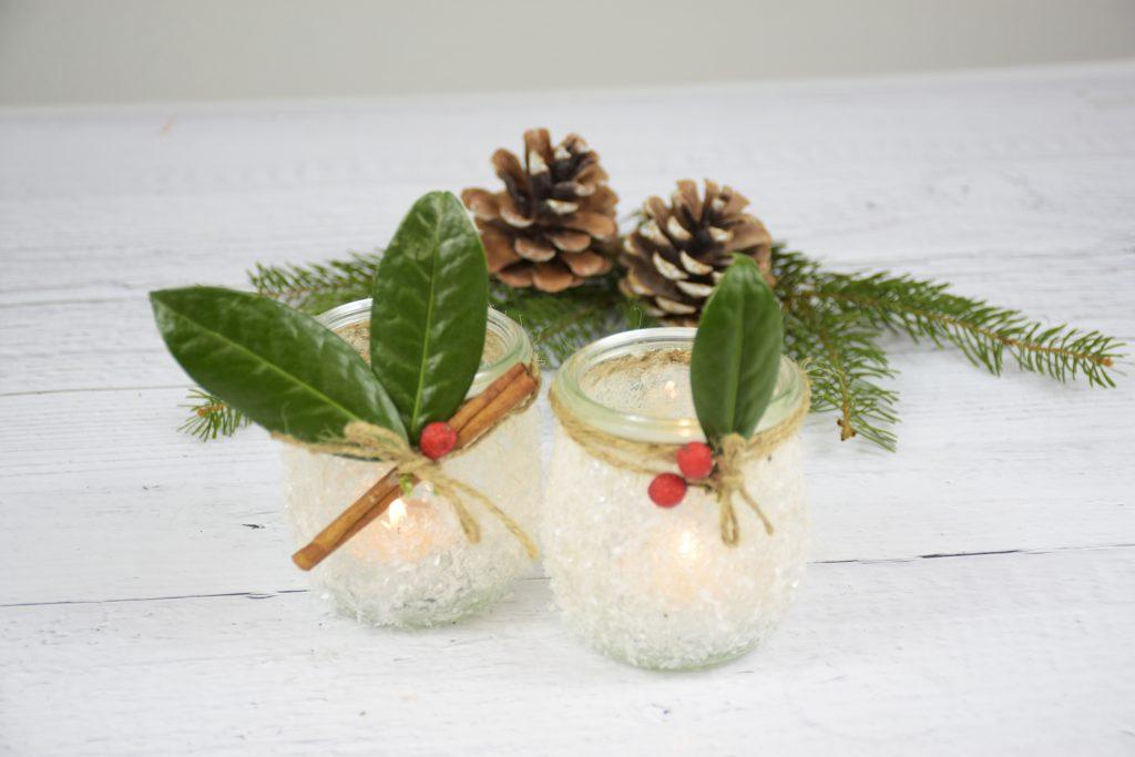 Kerzendeko für Weihnachten