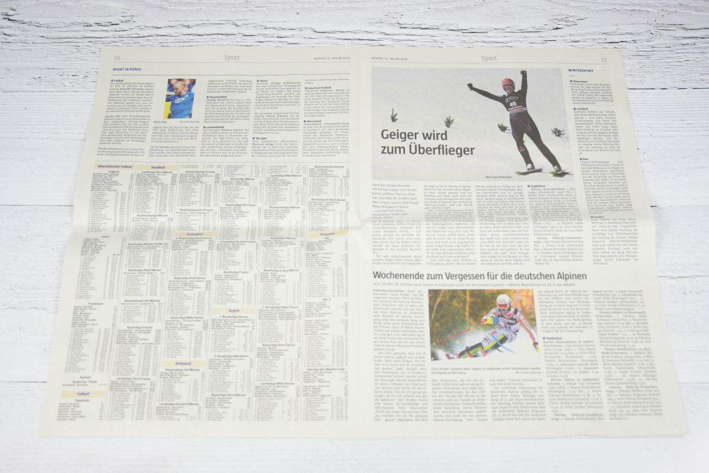 Mülltüten aus Zeitungspapier