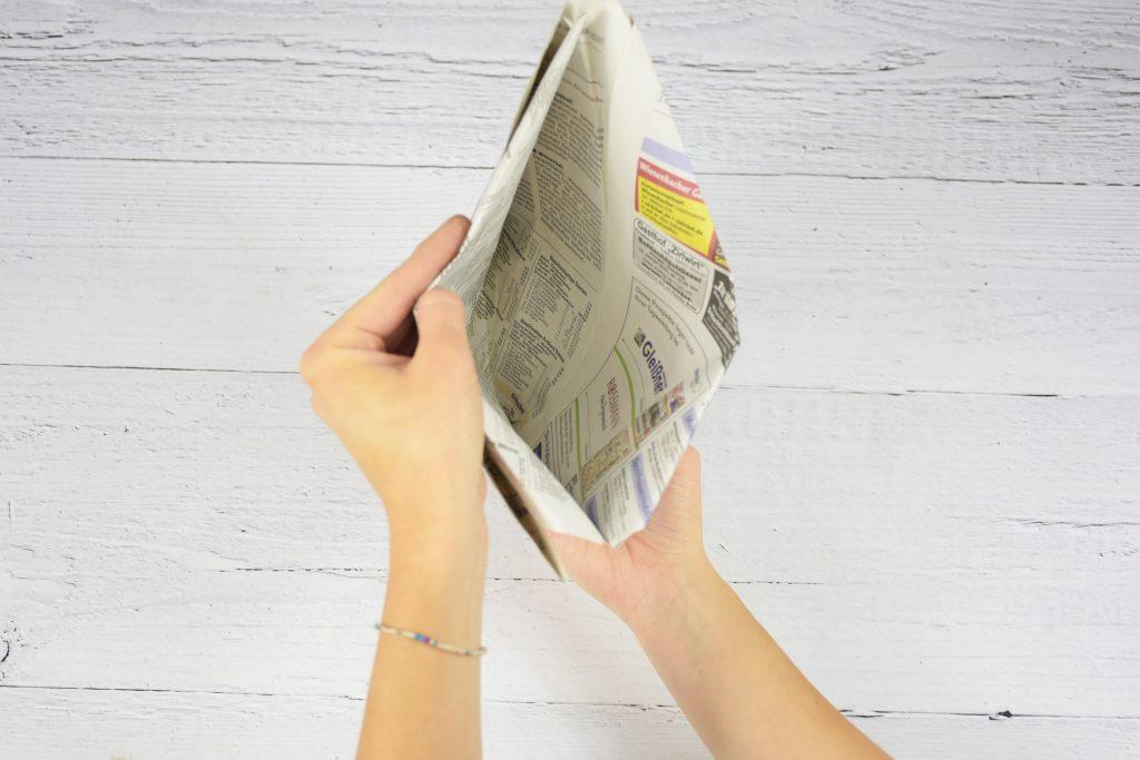 Mülltüten aus Zeitung