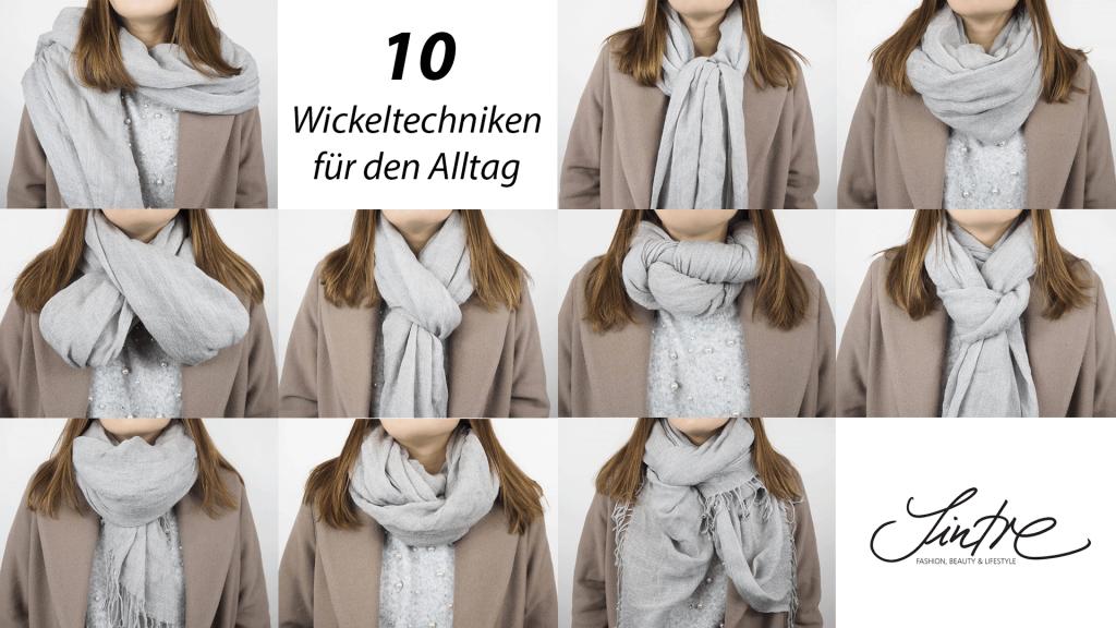 Collage mit Schal Wickeltechniken