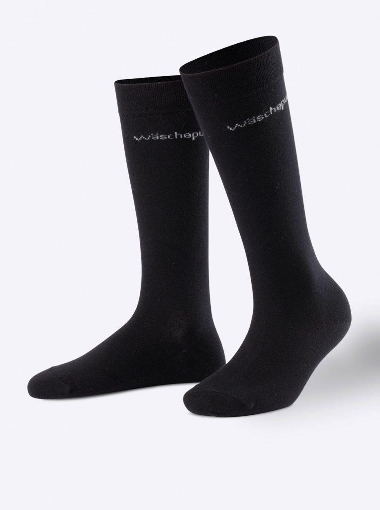 Schwarze Socken aus Merinowolle
