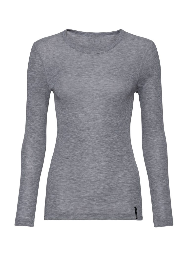 Graues Langarmshirt aus Polyester