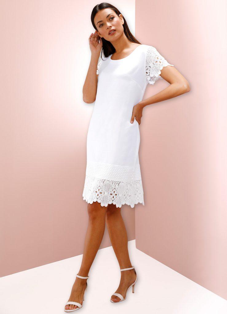 Styling50+-Kleid weiß