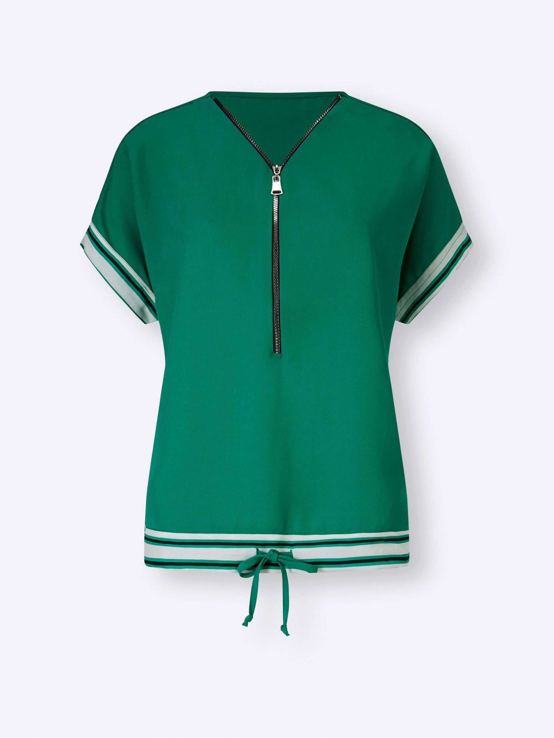 Smaragdgrüne Bluse