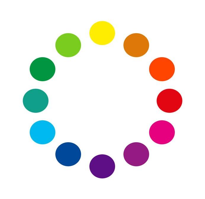 Farbkreis mit verschiedenen Farben