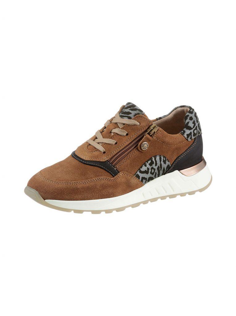 Statement Sneaker in Cognac und mit Animal Print