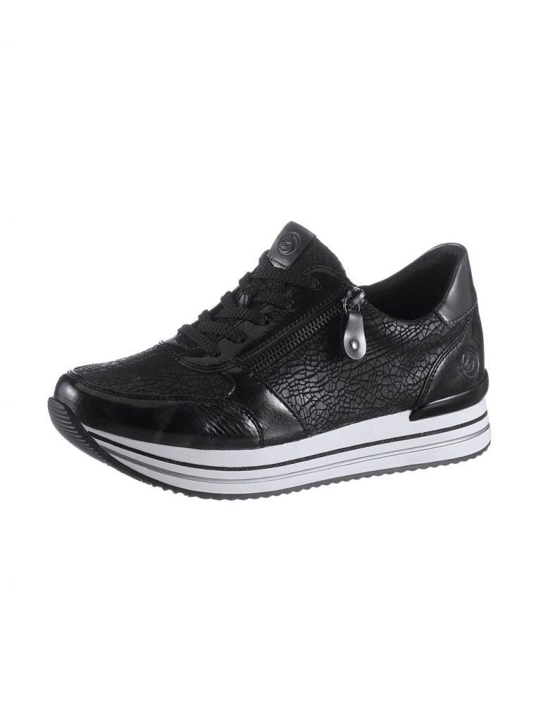 Nachtblauer Sneaker aus Kunstleder fürs Herbst Outfit