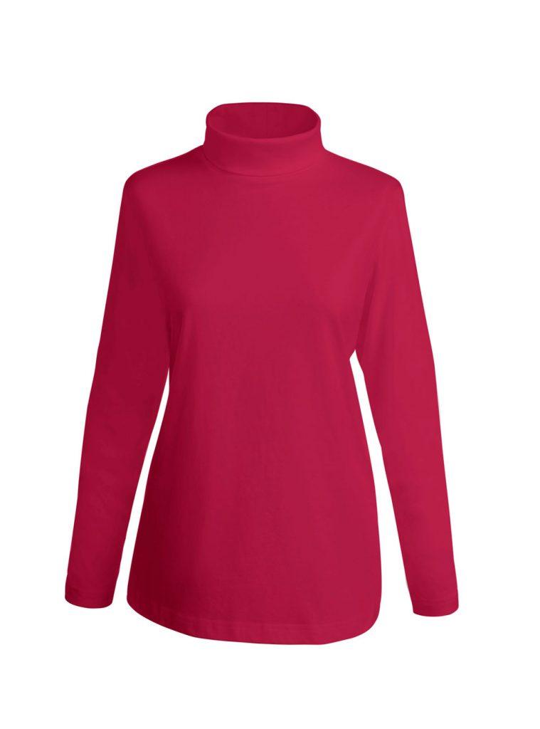 Rotes Shirt mit Rollkragen