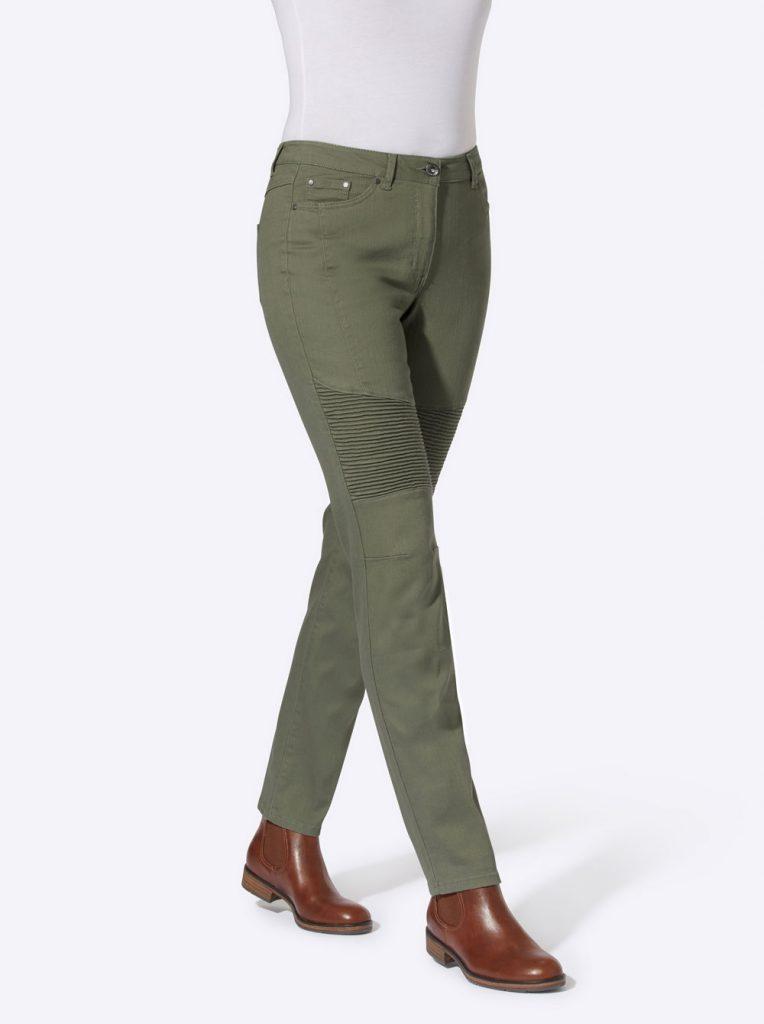 Hose in Khaki-Grün
