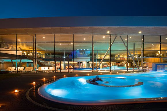 Emser Therme am Abend
