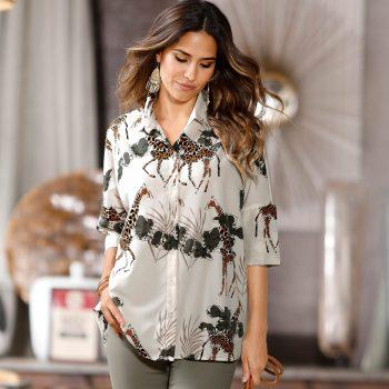 Bedruckte oversize-Bluse